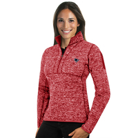 Ladies Antigua Fortune Fleece Jacket-Red