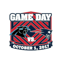 Patriots-Panthers Game Day Pin