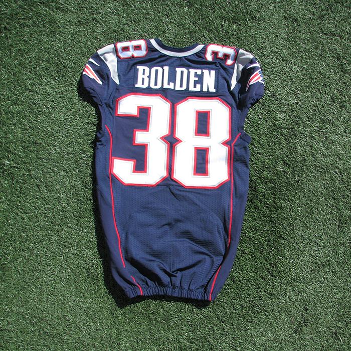 86b9e9b1763 2014 Brandon Bolden Team Issued Navy Jersey - Patriots ProShop