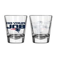 Do Your Job Etched Shot Glass