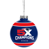 5X Champions Round Ornament