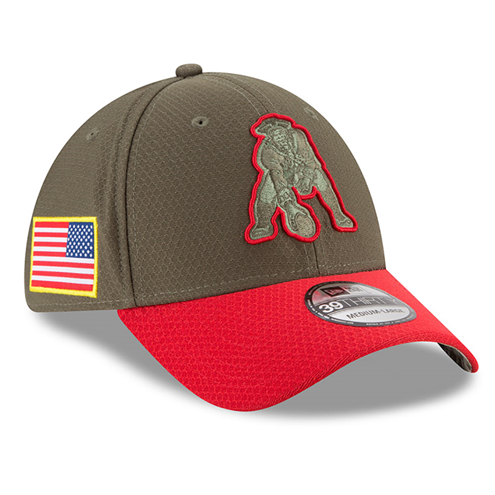 10a4f08e40cc66 New Era Salute To Service 39 Thirty Throwback Cap - Patriots ProShop
