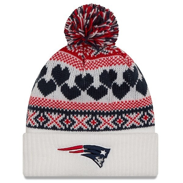Ladies New Era Winter Cutie Knit-White - Patriots ProShop 6f265dd1a