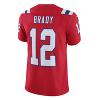 Nike Elite Tom Brady #12 Throwback Jersey-Red