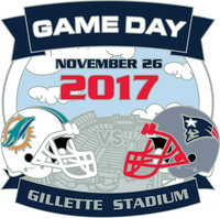 Patriots/Dolphins Game Day Pin