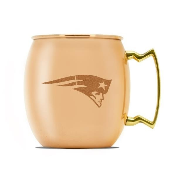 Patriots 16oz copper moscow mule mug