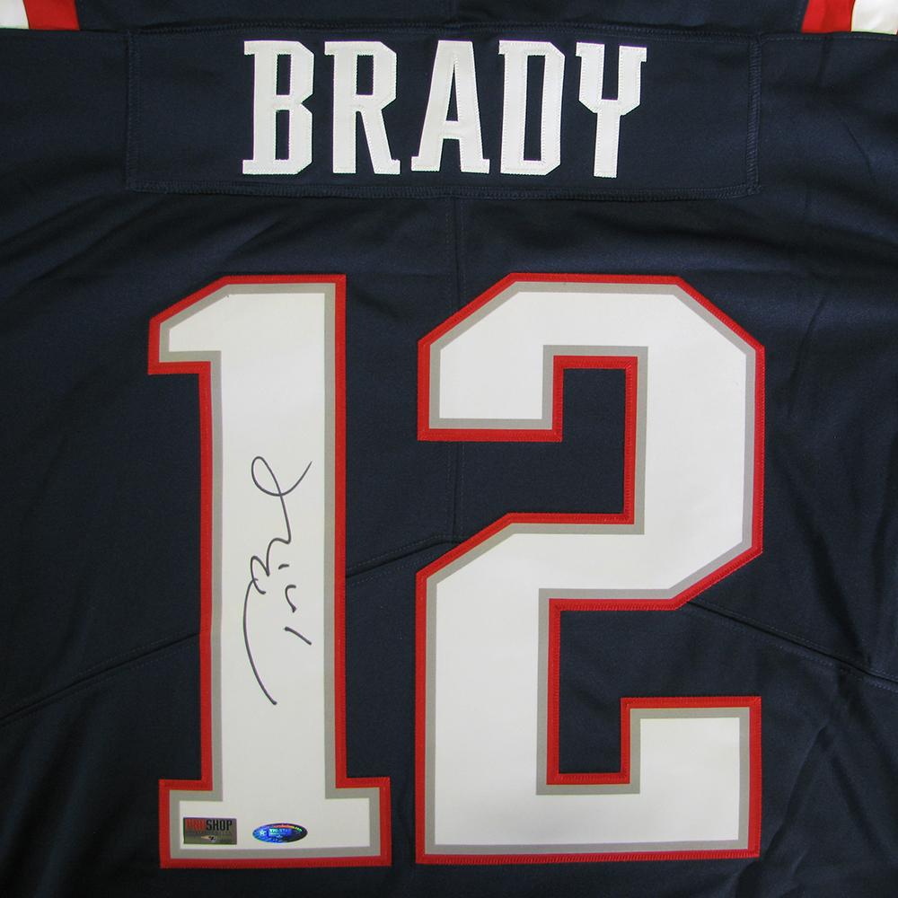 dea3b9efda5 Tom Brady Autographed Nike Color Rush Jersey - Patriots ProShop