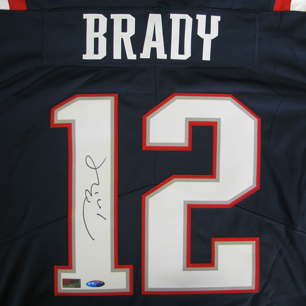 100% authentic 06251 f0575 Tom Brady Autographed Nike Color Rush Jersey - Patriots ...