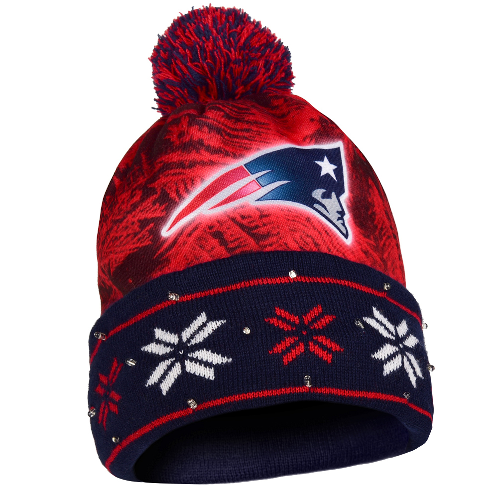 101f1e3c3a4 Logo Light Up Knit Hat - Patriots ProShop