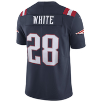 Nike #28 James White Color Rush Limited Jersey-Navy