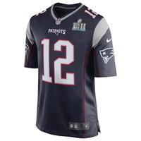 Nike Tom Brady SB52 Patch Game Jersey-Navy