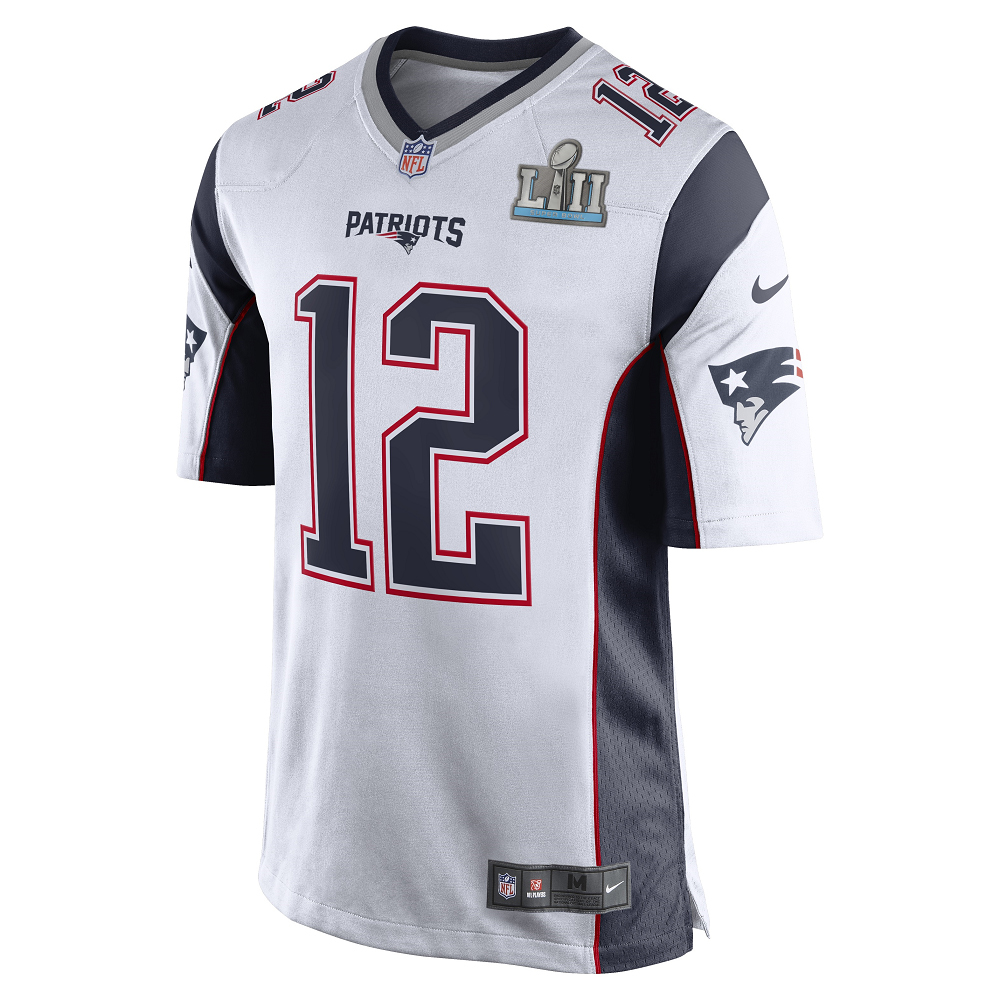 tom brady super bowl 52 white jersey