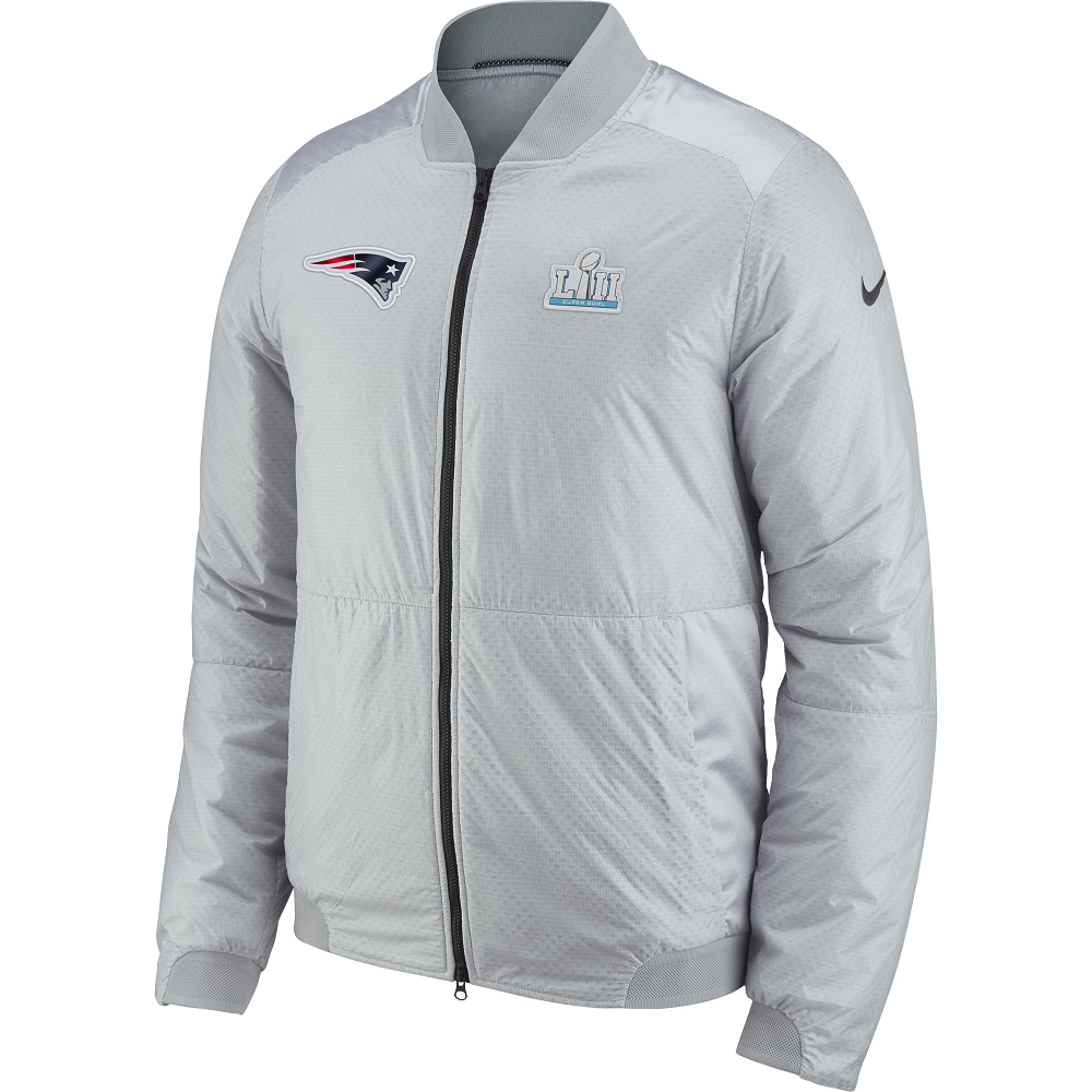 detailed pictures 5a422 9778c Nike Super Bowl LII Media Day Bomber Jacket