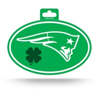 Patriots St Patty's Day Oval Decal