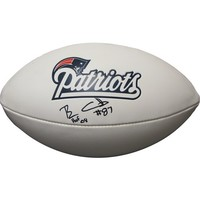 Autographed ben coates 3 panel football