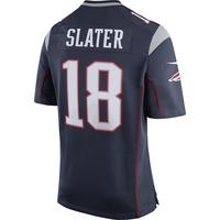 Nike Matthew Slater #18 Game Jersey-Navy