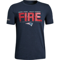 Youth Under Armour Combine Tech Fire Tee