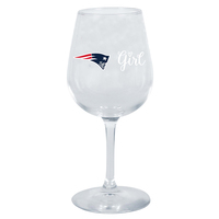 Patriots Girl Wine Glass
