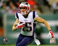 Chris Hogan White Jersey 8 x10 Photo