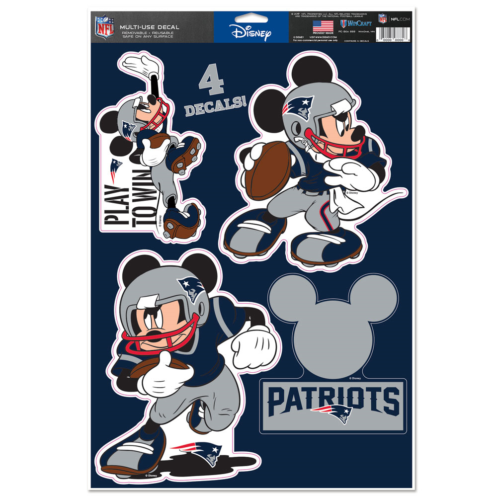 Mickey Mouse Player Sticker Sheet Patriots Proshop