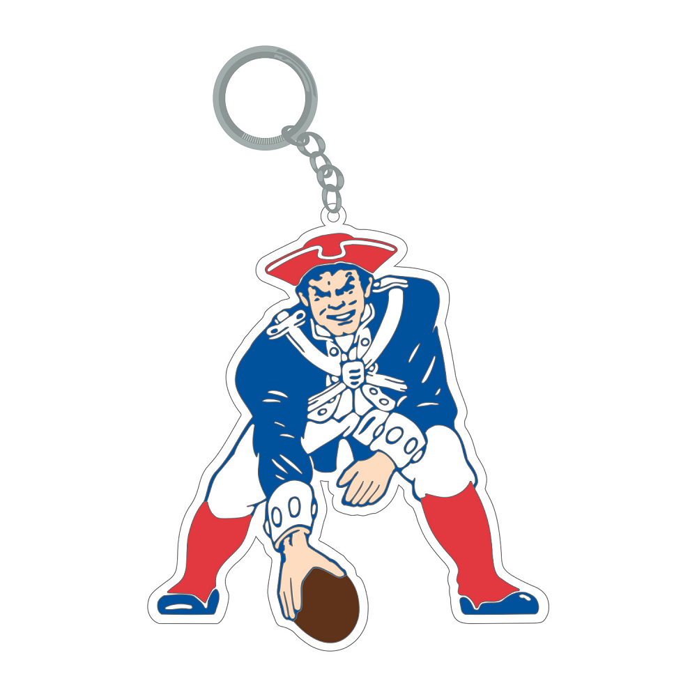 Large Throwback Rubber Keychain