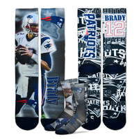Brady Player Montage Socks