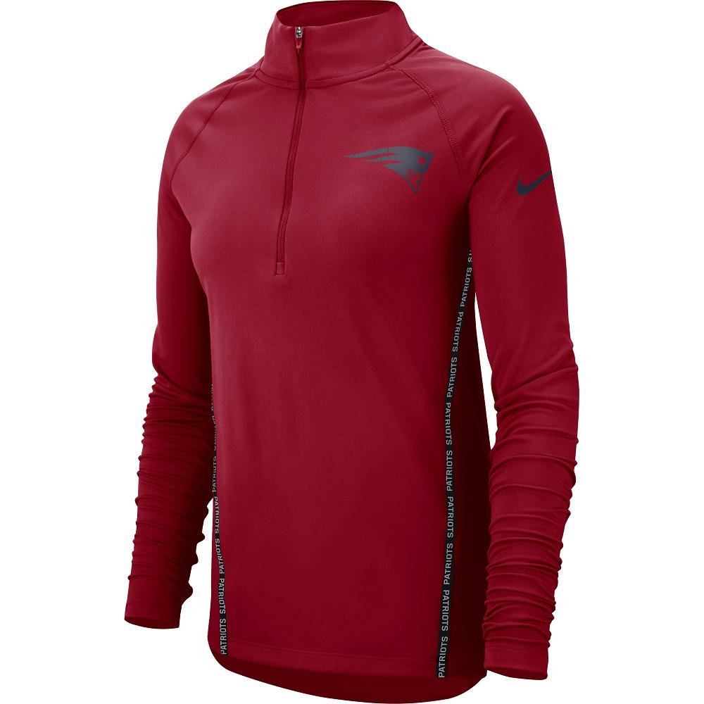 Ladies Nike 1 2 Zip Top - Patriots ProShop 9548891bb