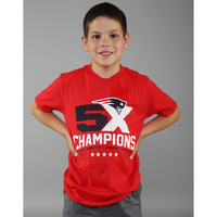 Youth 5X Champs Tee-Red