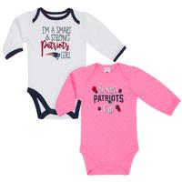 Newborn Girls Long Sleeve Bodysuits-2pk