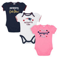 Newborn Girls Short Sleeve Bodysuits-3pk