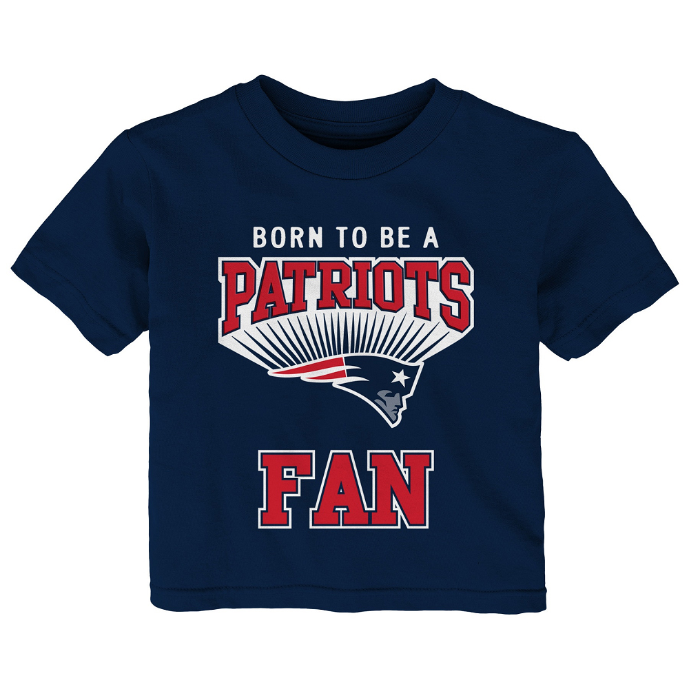 infant born to be a patriots fan tee patriots proshop. Black Bedroom Furniture Sets. Home Design Ideas
