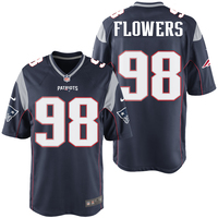Nike Trey Flowers #98 Game Jersey-Navy