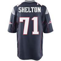 Nike Danny Shelton #71 Game Jersey-Navy