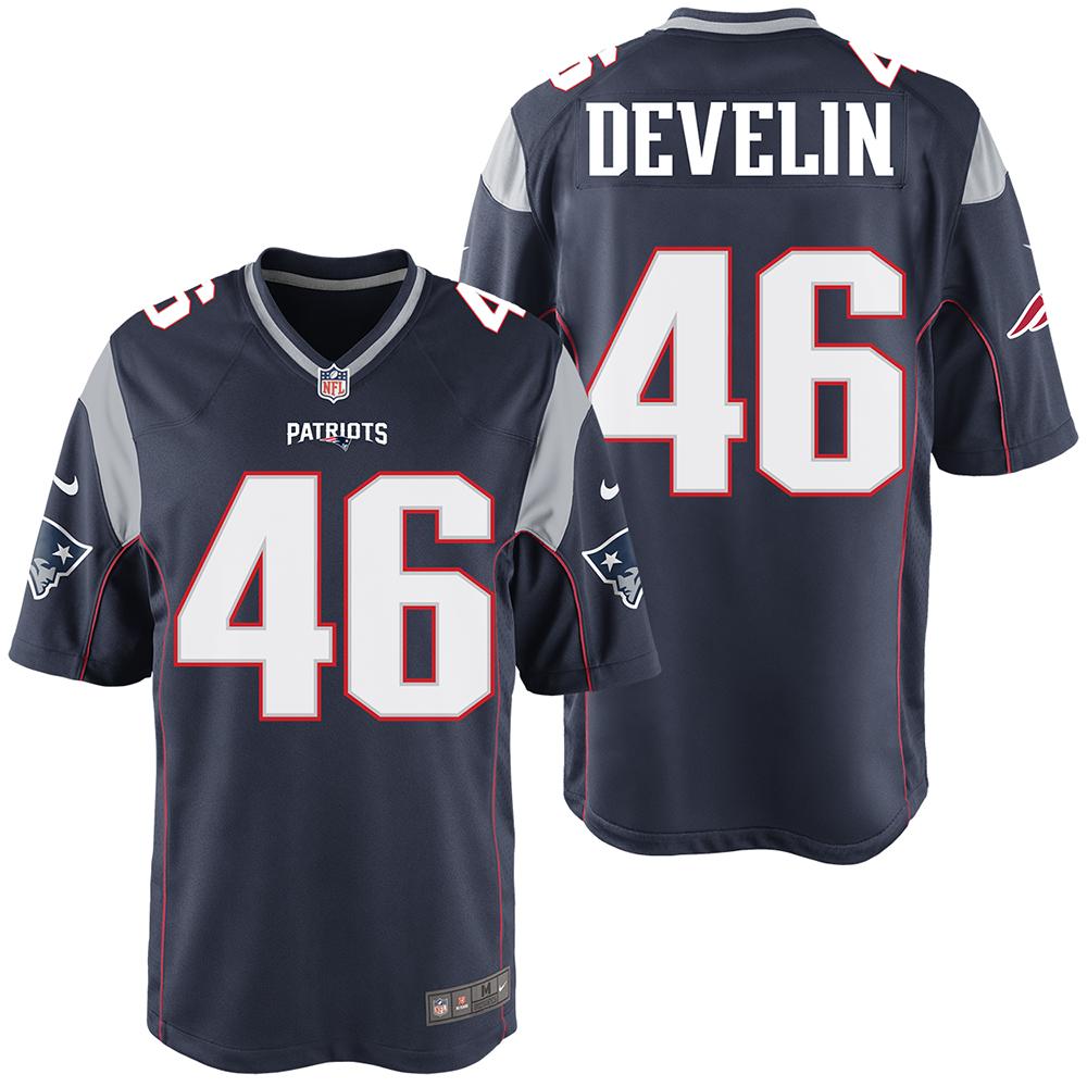 new arrivals 6c064 98660 Nike James Develin #46 Game Jersey-Navy - Patriots ProShop
