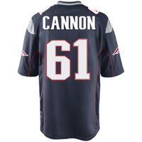 Nike Marcus Cannon #61 Game Jersey-Navy