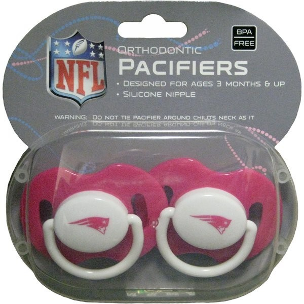 Patriots 2pk baby pacifier pink