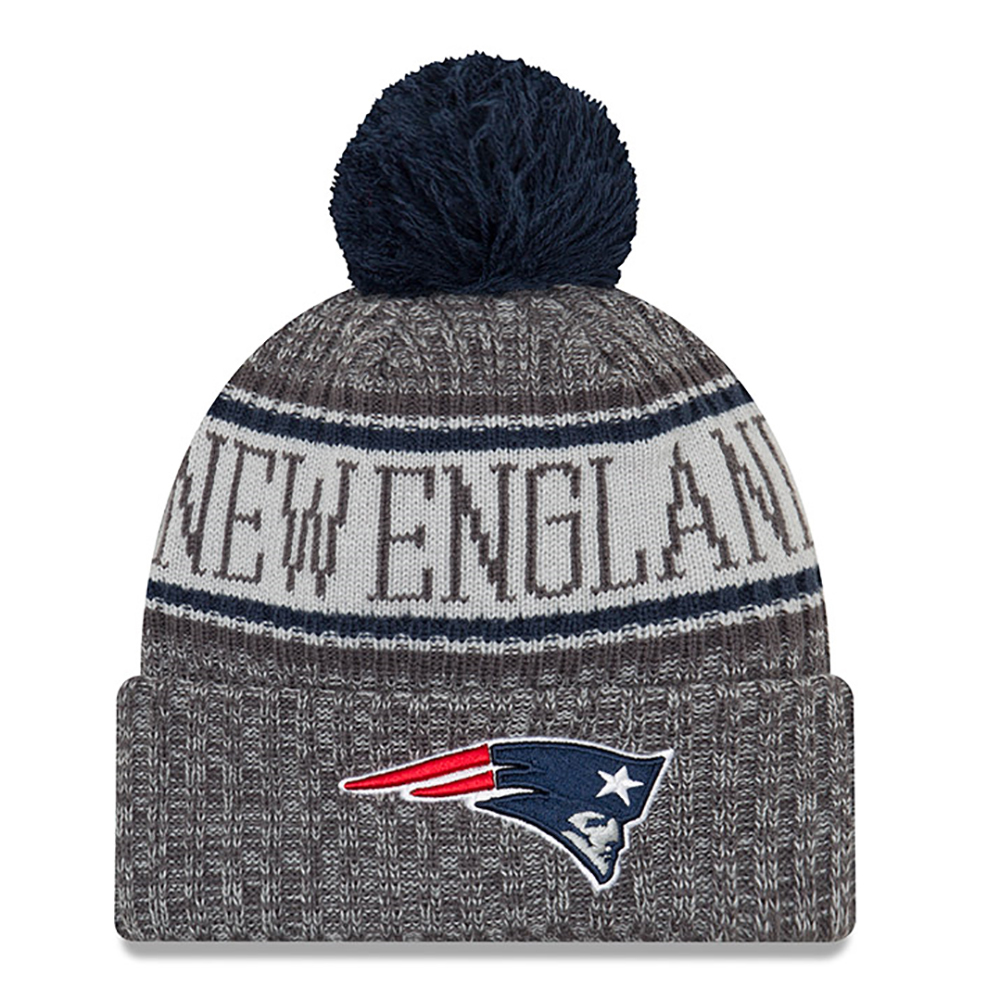2cde6ec82b4 ... purchase new era 2018 sport knit charcoal navy patriots proshop ed40a  99eda