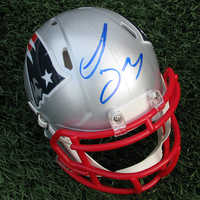 Autographed Sony Michel Mini Speed Helmet