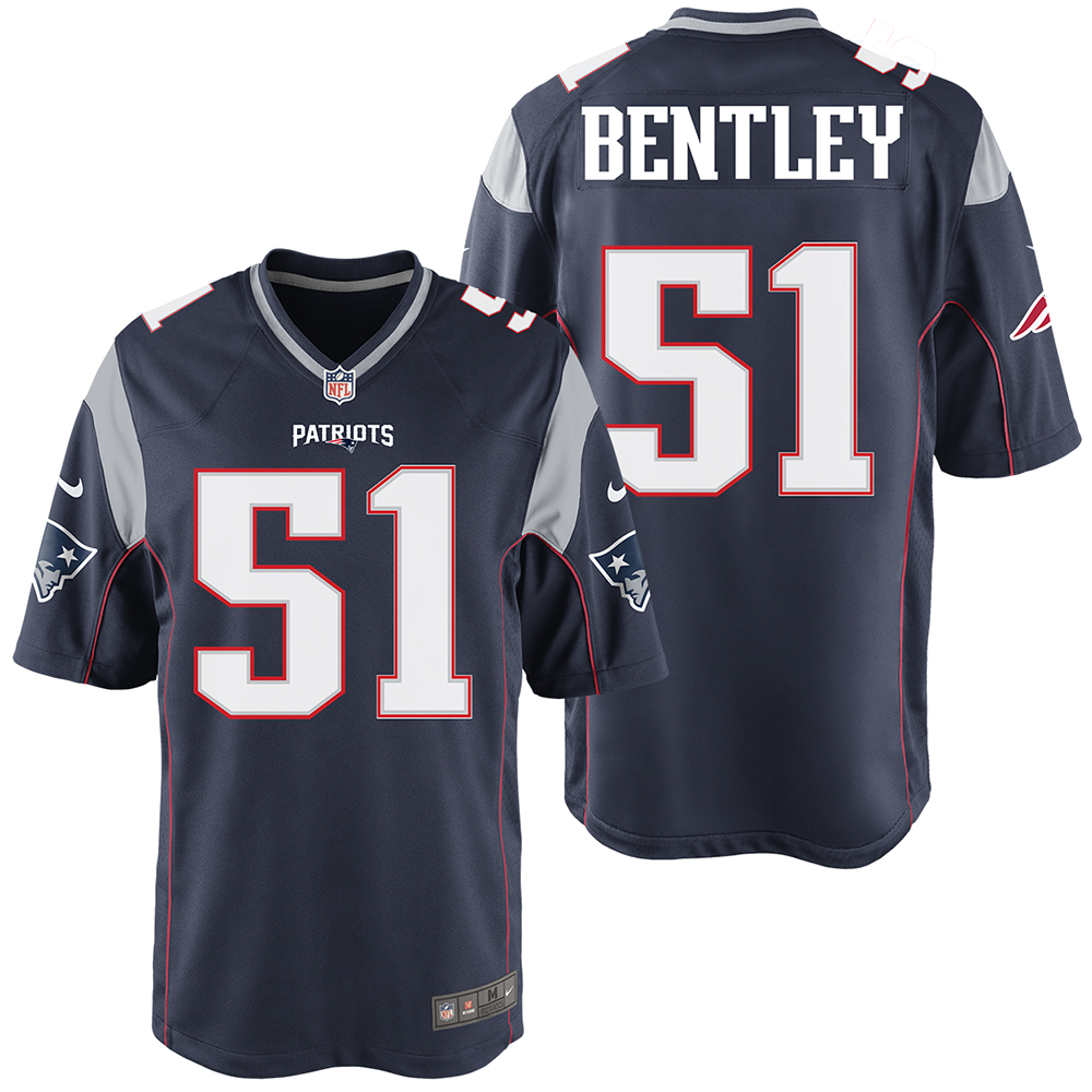best sneakers bc15b 0cb50 Nike Ja'Whaun Bentley #51 Game Jersey-Navy - Patriots ProShop
