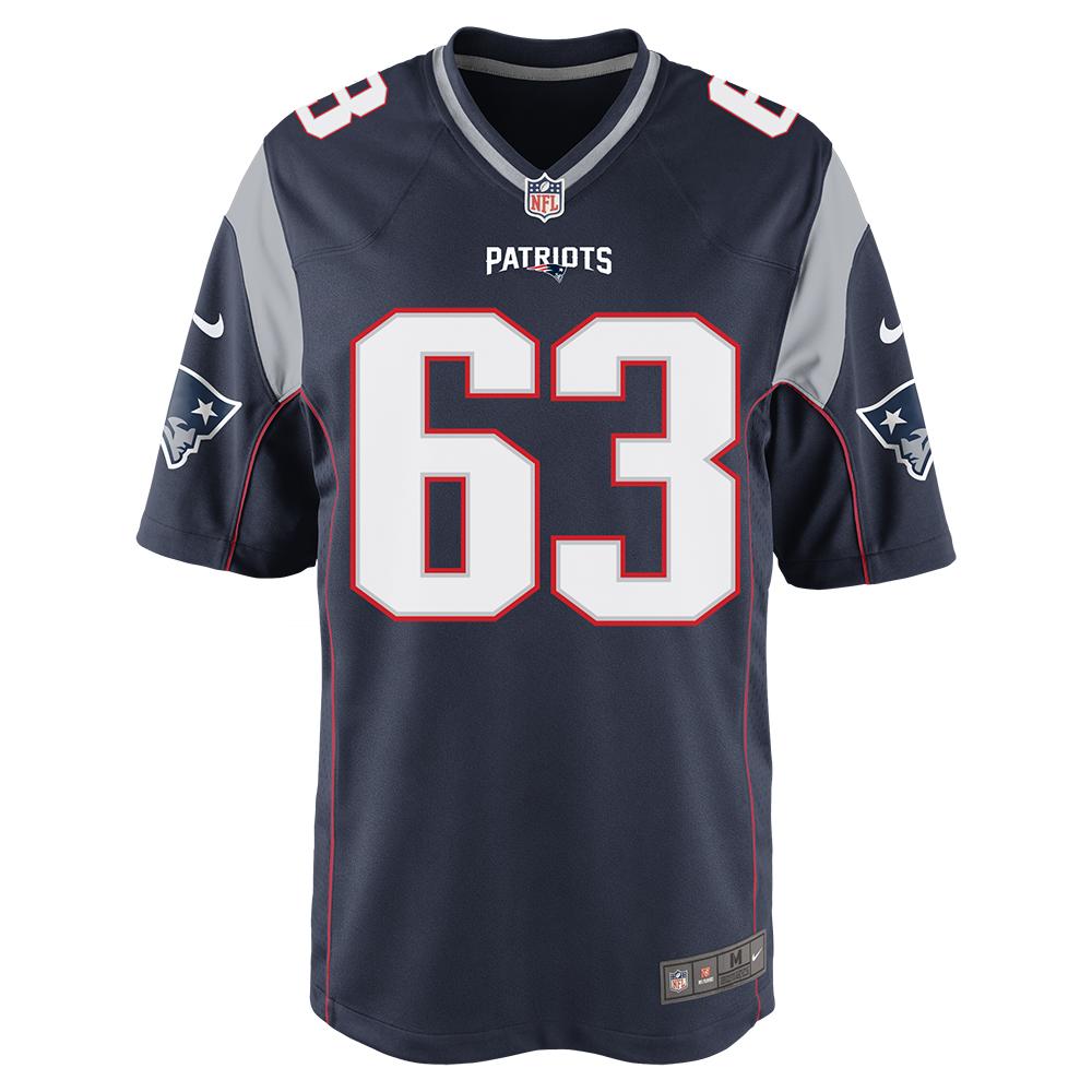 premium selection c5c19 ddc67 Nike Brian Schwenke #63 Game Jersey-Navy - Patriots ProShop