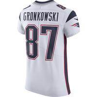 Nike Elite Vapor Rob Gronkowski #87 Jersey-White
