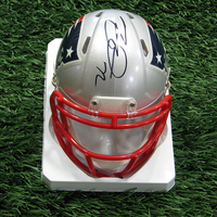 Matt Light Autographed Mini Helmet