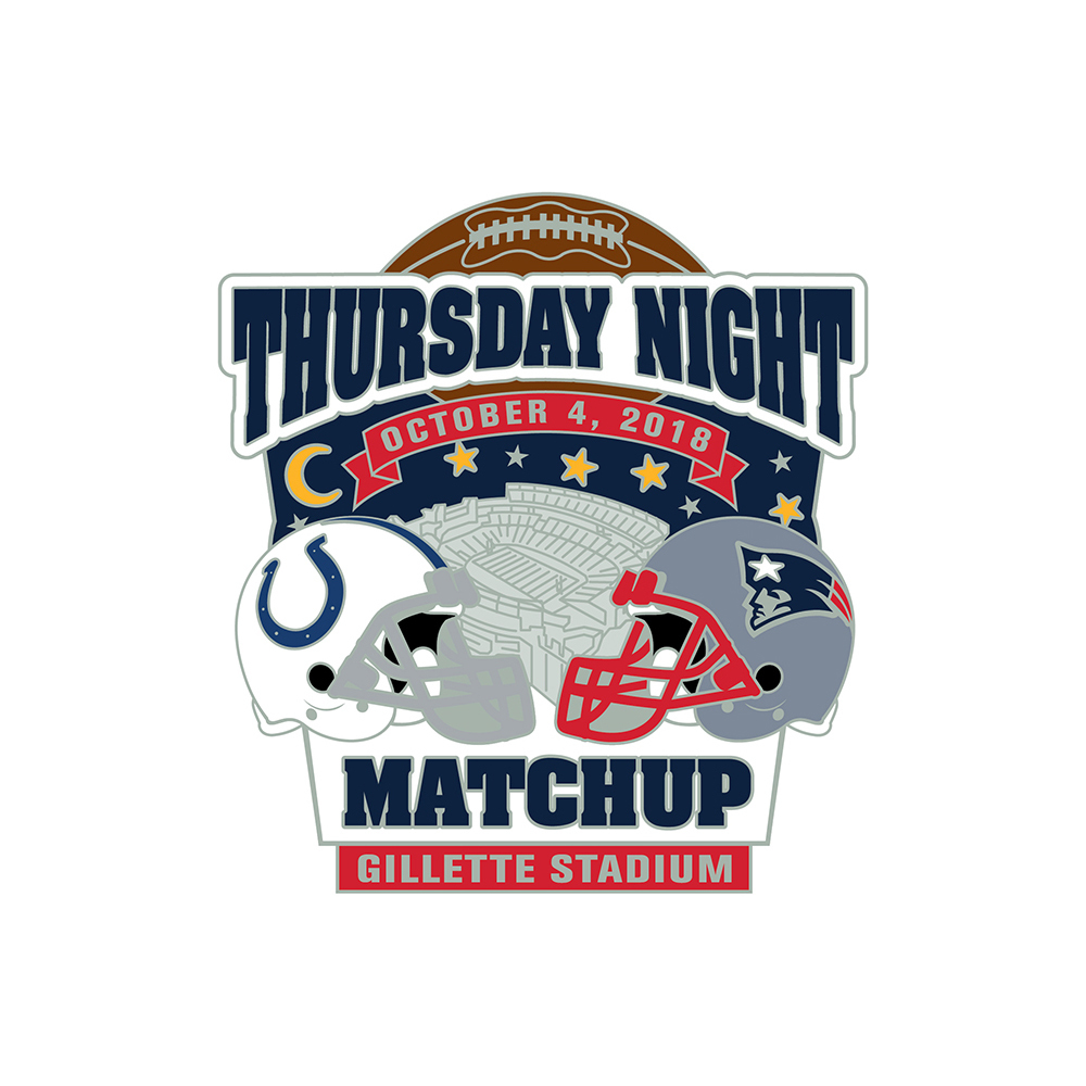 Patriots/Colts Game Day Pin