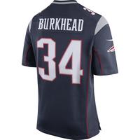 Nike Rex Burkhead #34 Game Jersey-Navy