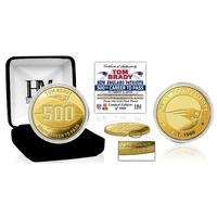 Tom Brady 500 TD Pass Gold Coin