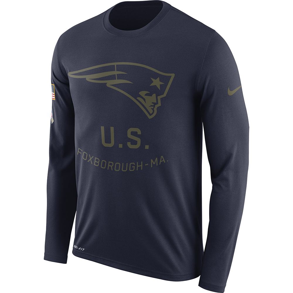 9a875652c60034 Nike Salute To Service Long Sleeve Tee - Patriots ProShop