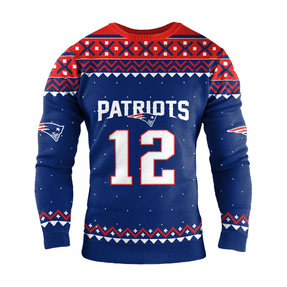 Tom Brady #12 Ugly Sweater