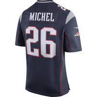 Nike Sony Michel #26 Game Jersey-Navy