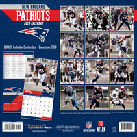 2019 Patriots Team Wall Calendar