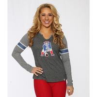 Ladies Throwback Static Notch Long Sleeve Tee
